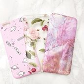 phone cover,yeah bunny,iphone,cover,iphone case,paste,pink,space