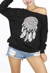 sweater,black,casual,dreamcatcher,fashion,style,trendy,long sleeves,fall outfits,winter outfits,beautifulhalo