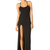 RIHANNA FOR RIVER ISLAND THIGH-HIGH SPLIT SIMPLE MAXI DRESS - WOMEN - RIHANNA FOR RIVER ISLAND