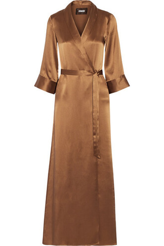 dress maxi dress maxi silk bronze