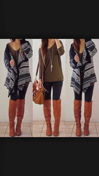 black sweater black sweater cardigan fall outfits fall sweater gray hoodie cute cute outfit shoes bag back to school
