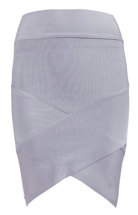Sexy Tulip Wrap Asymmetric Mini Celebrity Bandage Skirt - More Colors
