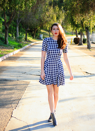 these days blogger gingham patterned dress