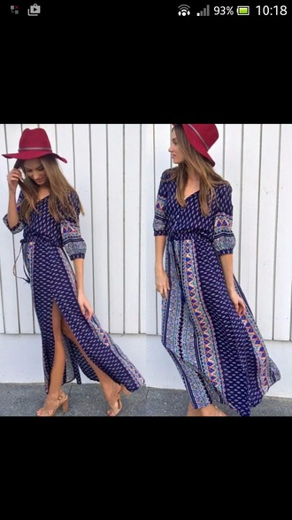 dress maxi long sleeves