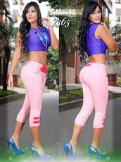 jeans,pink capri pants,pink pants,yallure,yallure.com,tabbachi butt lifting jeans,pink,colored jeans