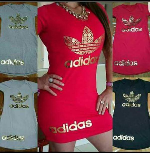Dress Red Adidas Gold Red Dress Bodycon Dress T Shirt Dress