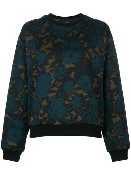 ETRO sweatshirt women spandex floral cotton green sweater