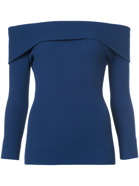sweater women spandex blue