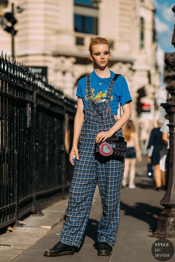 jumpsuit checkered vintage shoes top bag