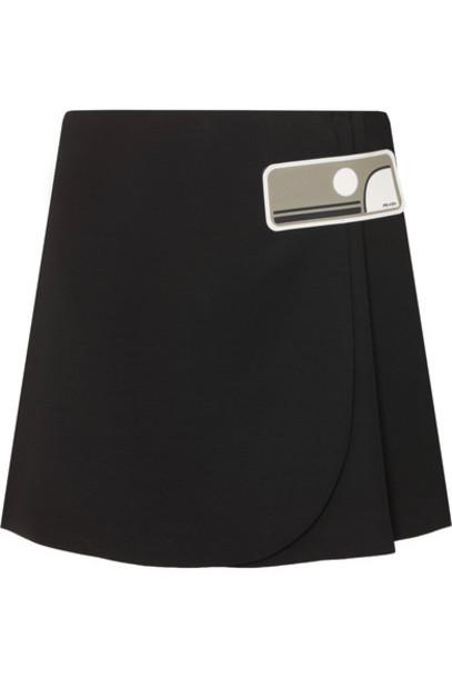 Prada skirt mini skirt mini black wool