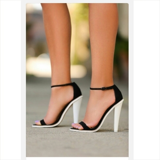 classy black and white high heels strappy heels black and white heels formal black heels