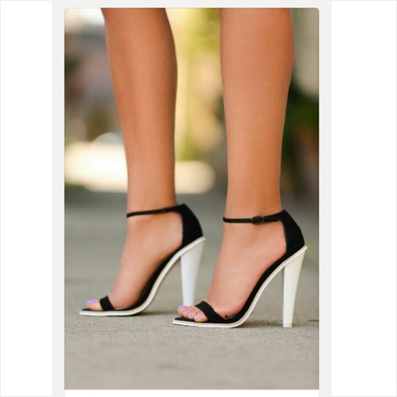high heels black and white strappy heels black and white heels classy formal