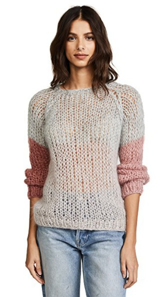 ONE by sweater colorblock rose