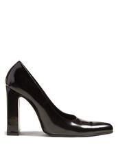 heel,pumps,leather,black,shoes