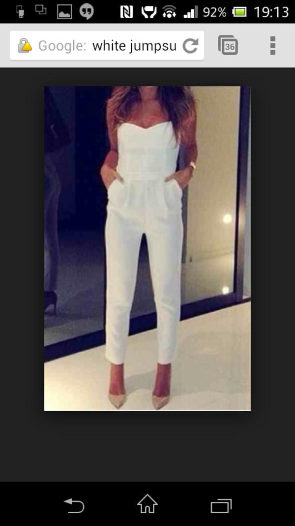 white jumpsuit pants