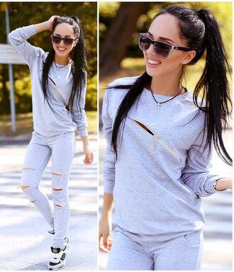 pants zefinka 2 piece set women outfit outfit idea fall outfits streetwear streetstyle