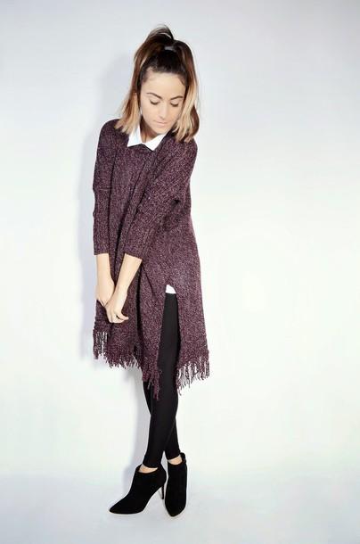 quality rivets blogger sweater leggings knitwear