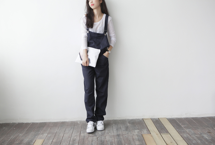 Holypink x cbomb cosy dungarees