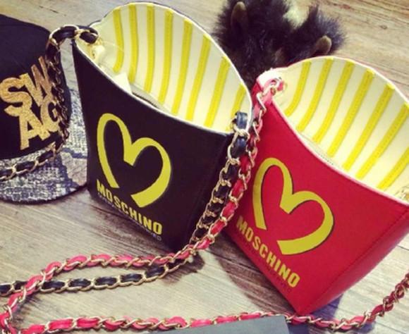 bag prada fries brand chanel armani dope moschino french fries mcdonalds mcdonald's clutch giuseppe zanotti katy perry sneakers