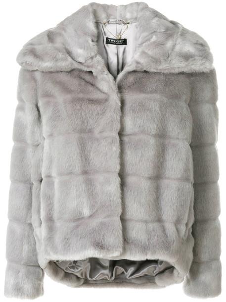 Twin-Set jacket cropped jacket cropped women grey