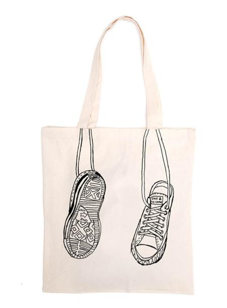 bag tote bag converse simply hipster