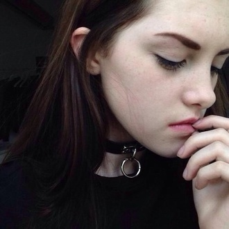jewels pale grunge soft grunge black white black and white grunge choker necklace tumblr black choker