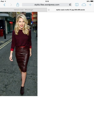 skirt oasis molly king collection molly oasis oasis skirt mollie king leather skirt burgundy skirt