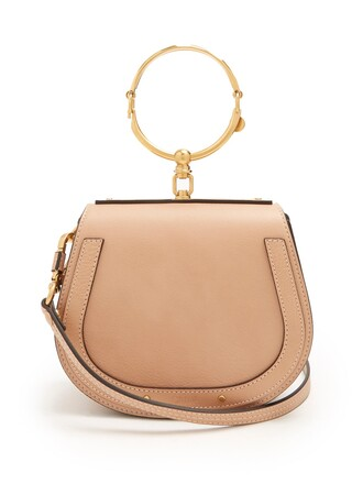 cross bag leather suede light pink light pink