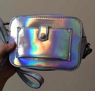 bag metallic silver