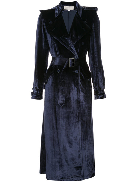 coat trench coat women spandex blue silk velvet