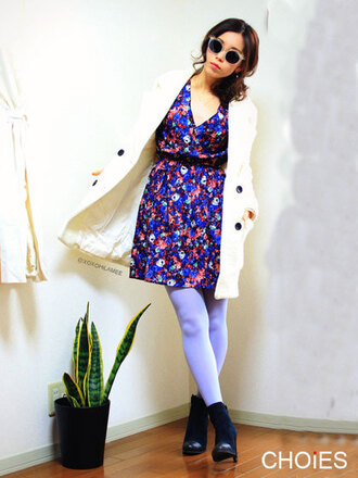 dress backless blue dress floral dress
