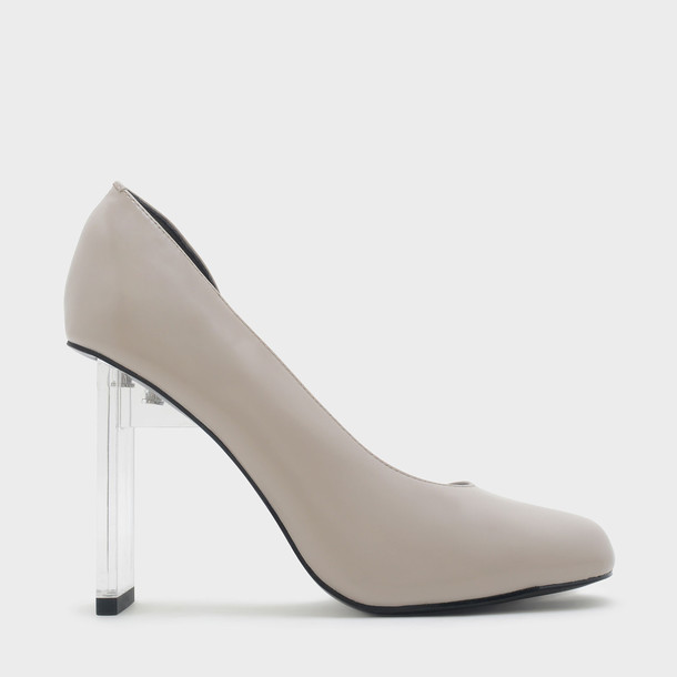 heel taupe shoes