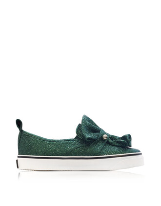 metallic dark sneakers leather green shoes