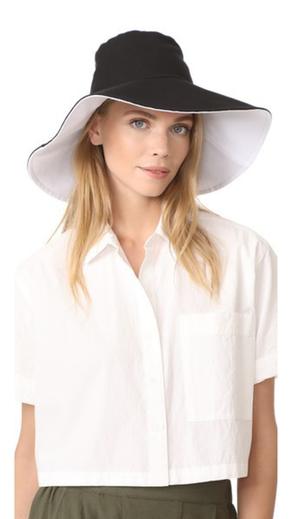 Hat Attack Canvas Reversible Sunhat in black / white