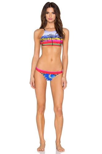 bikini high neck bikini high high neck runway blue