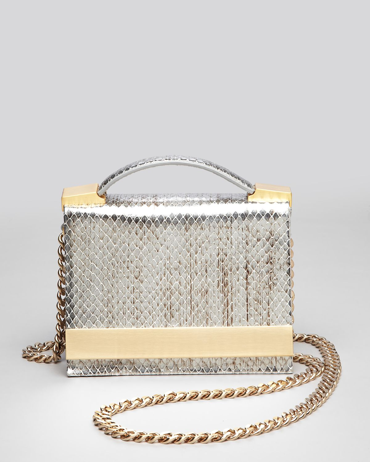 B Brian Atwood Crossbody - Ava Snake Embossed Top Handle | Bloomingdale's
