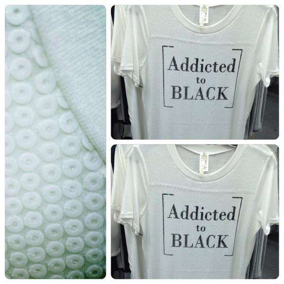 sequin dress blouse qute white t-shirt