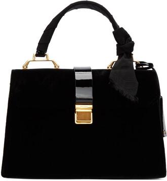 duffle bag bag black velvet