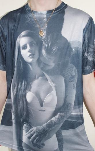 top t-shirt celebrity style lana del rey baggy t shirt mens t-shirt