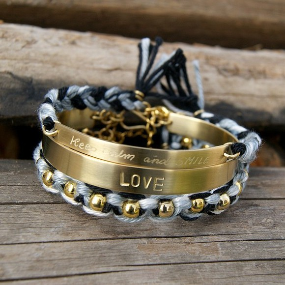 black bracelet jewels jewelry bracelets bijou bijoux personalized friendship gold jewelry macrame