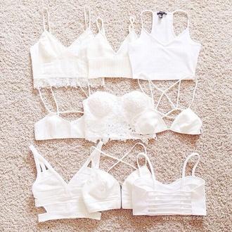 crop tops white cute bra funny vintage bralette