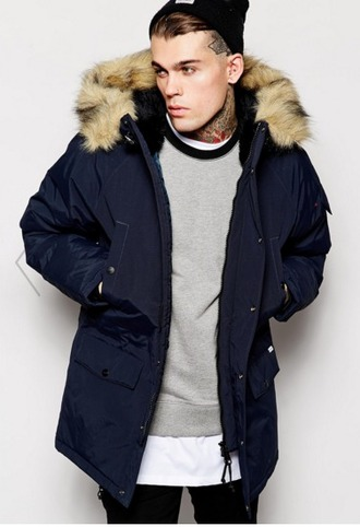 coat mens coat parka urban menswear hipster menswear mens parka