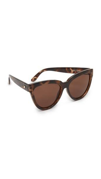 Le Specs Liar Liar Sunglasses - Volcanic Tort/Brown Mono