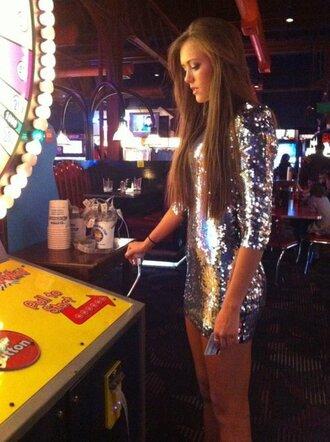 silver dress sparkle sparkling dress