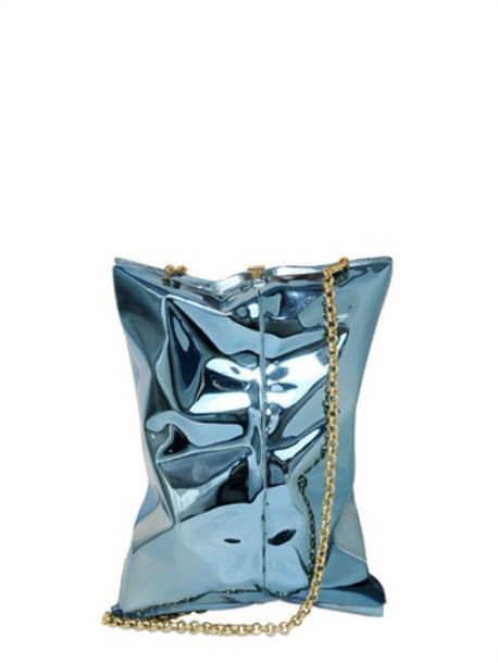 bag chain bag metallic metallic bag blue bag anya hindmarch