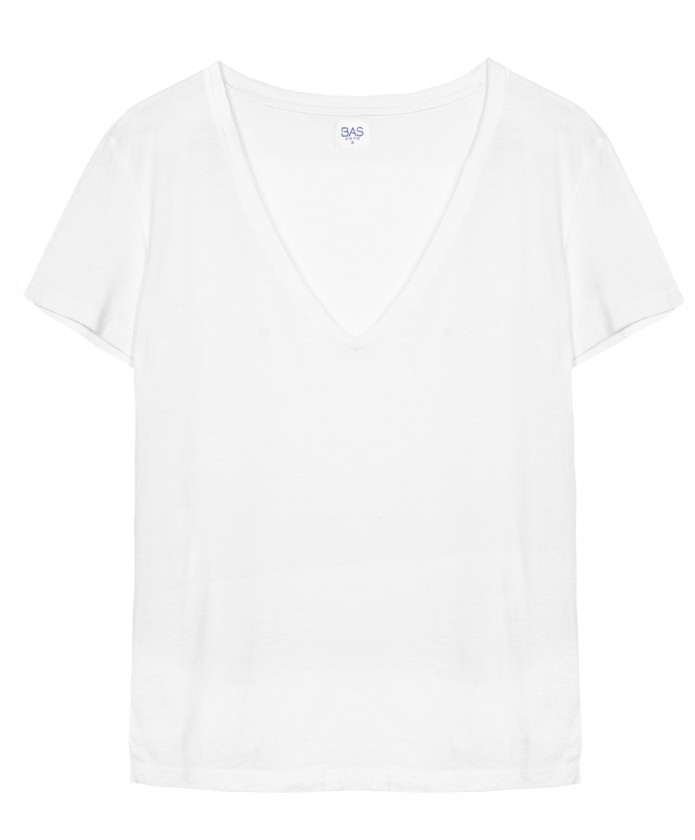 Vick deep V-neck T-shirt White