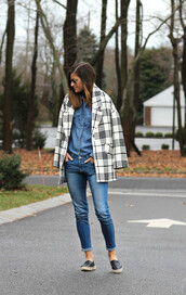 to be bright,blogger,coat,jeans,denim shirt