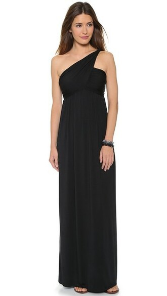 dress one shoulder dress black