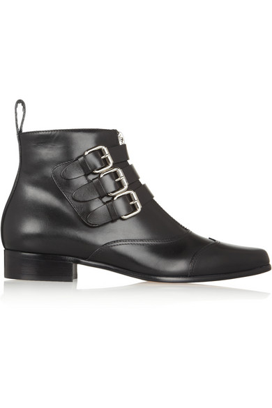 Early leather ankle boots