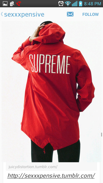 jacket supreme supreme jacket red red jacket menswear